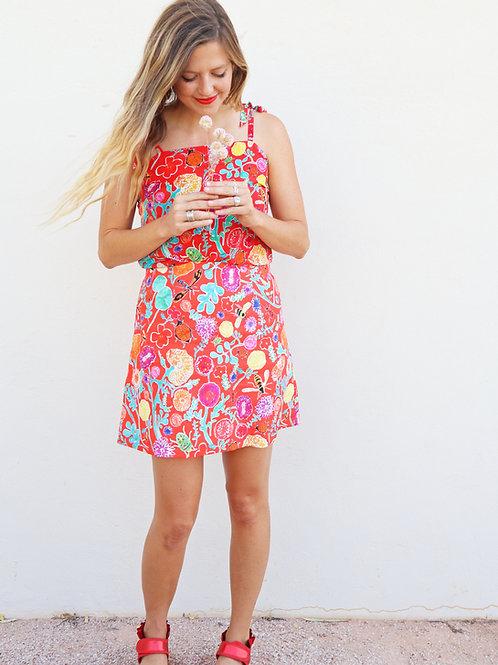 Best Buds Linen Mini Skirt