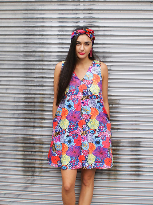 Colourful Coral Shift Dress