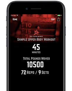 R5 Training Workout Totals Screen