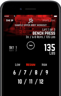 R5 Training Workout Screen