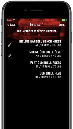 R5 Training Supersets Screen