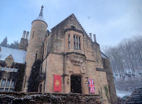 スコットランドのお城と電気自動車の巻