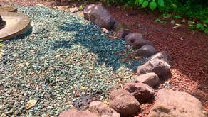 庭いじり家いじり : 浄化槽を囲む練炭の撤去&石積み、そして新たなプロジェクトの浮上