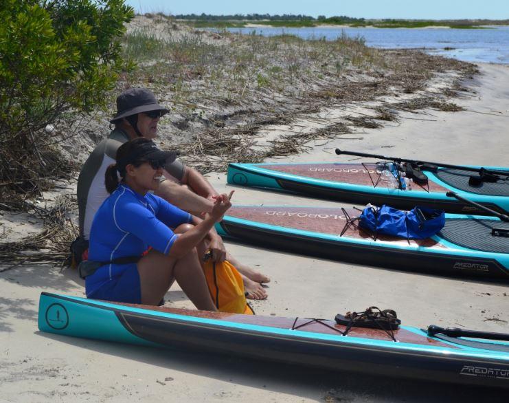 Paddle boarding Cumberland Island