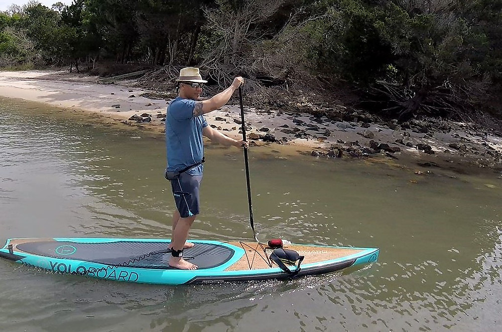 paddle boarding to Ft. Clinch
