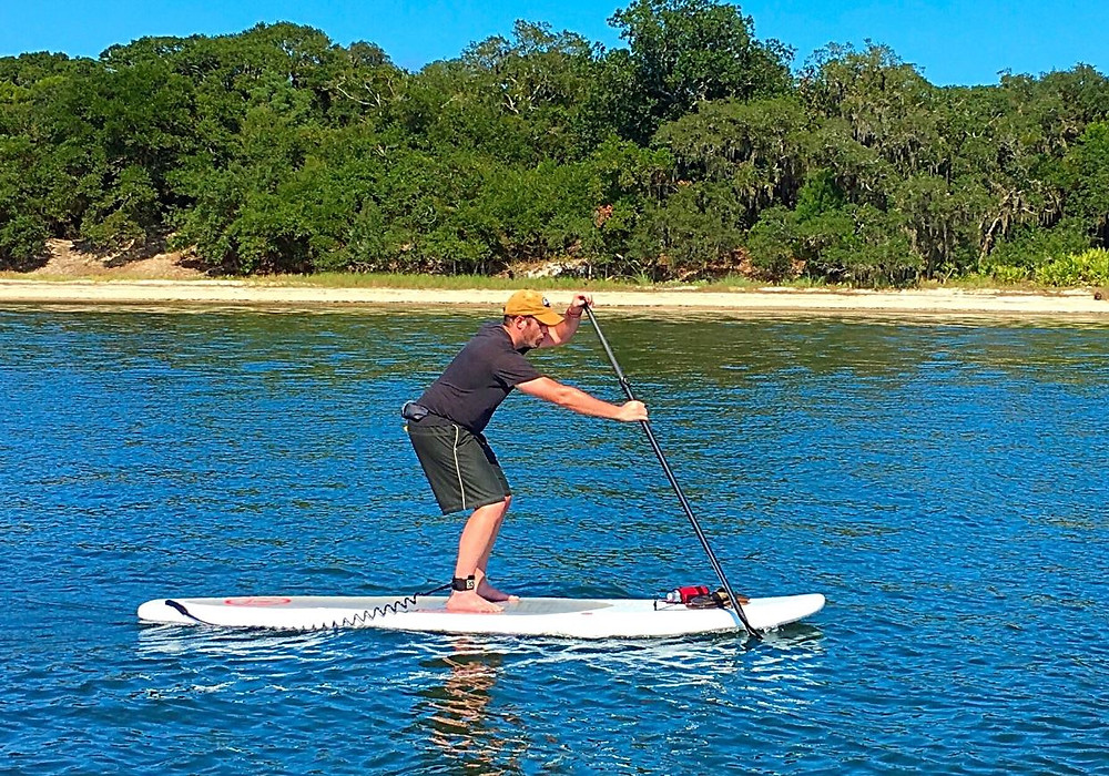 paddle boarding flat water