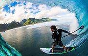 Sean Poynter paddle surfing