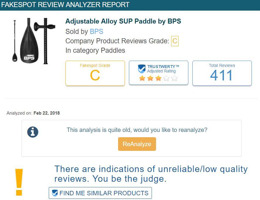 SUP paddle reviews