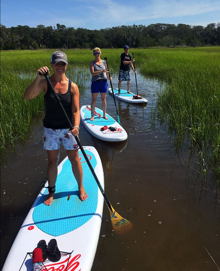 most popular place to paddle board in Amelia Island