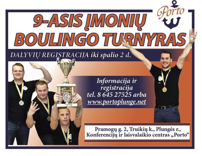 Kvietimas registracijai į įmonių boulingoi turnyrą