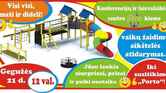 Vaikų žaidimo aikštelės atidarymas!
