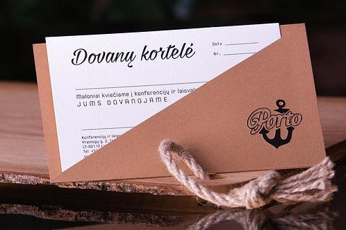 Dovanų kortelė apsilankymui SPA 20 Eur