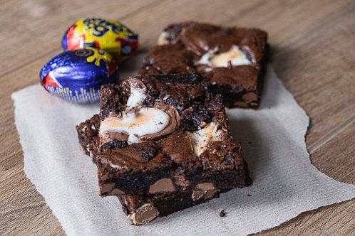 Creme Egg Chocolate Fudge Brownies