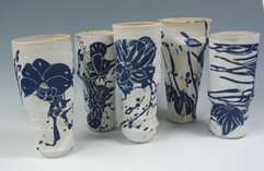 bleu-vegetal-vases ensemble- alexandraTo