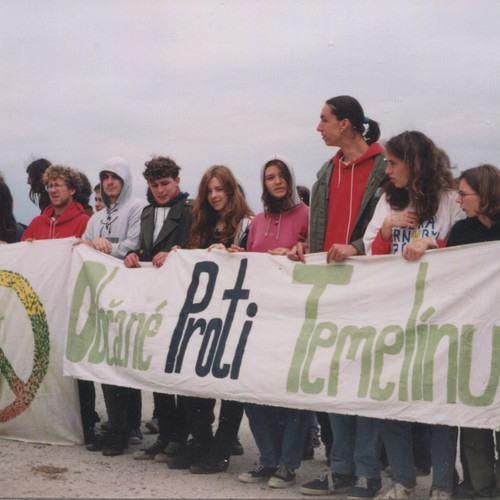 Občanský protest před Temelínem