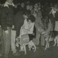 Demonstrace v Teplicích týden před sametovou revolucí