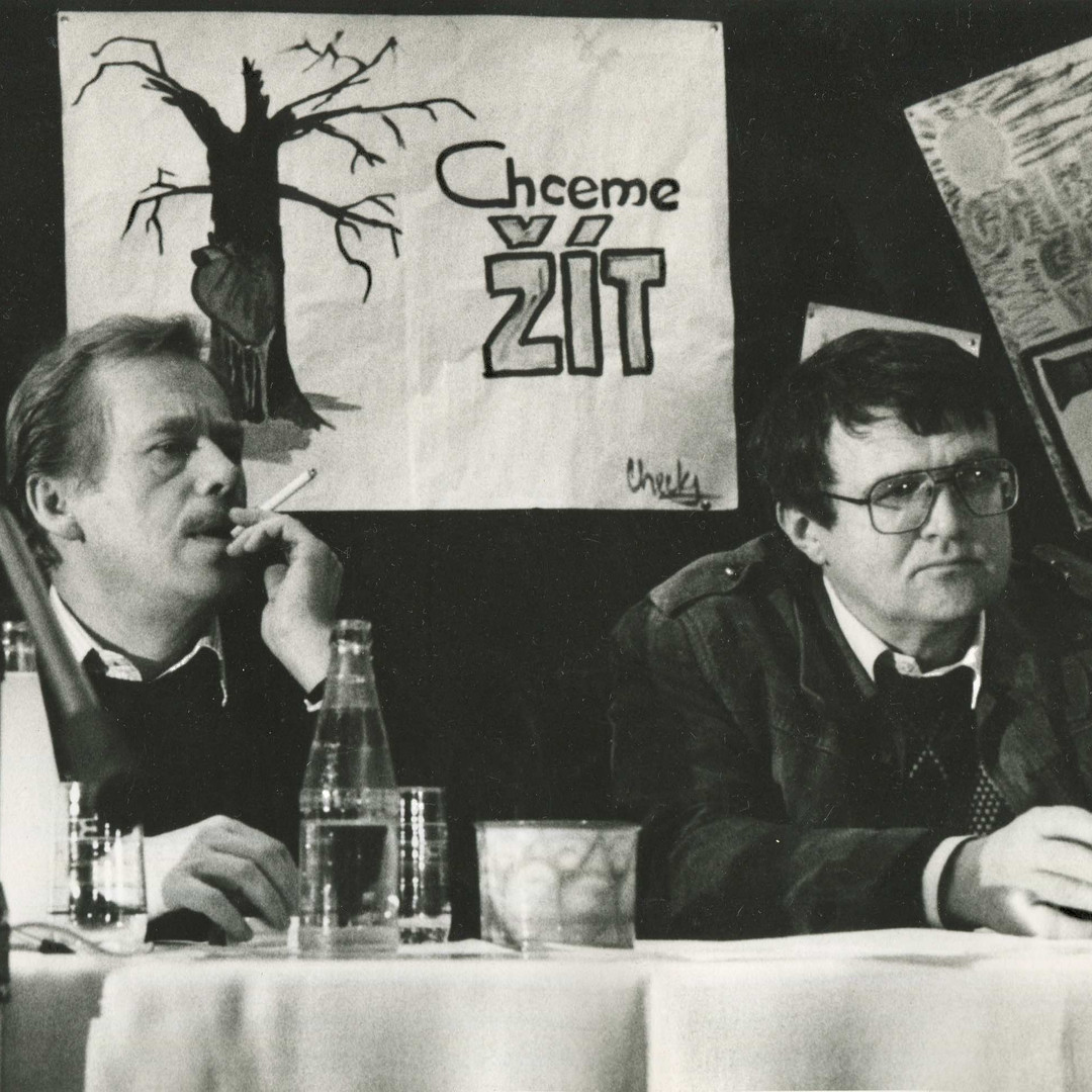 Václav Havel a ikona českých ekologů Josef Vavroušek