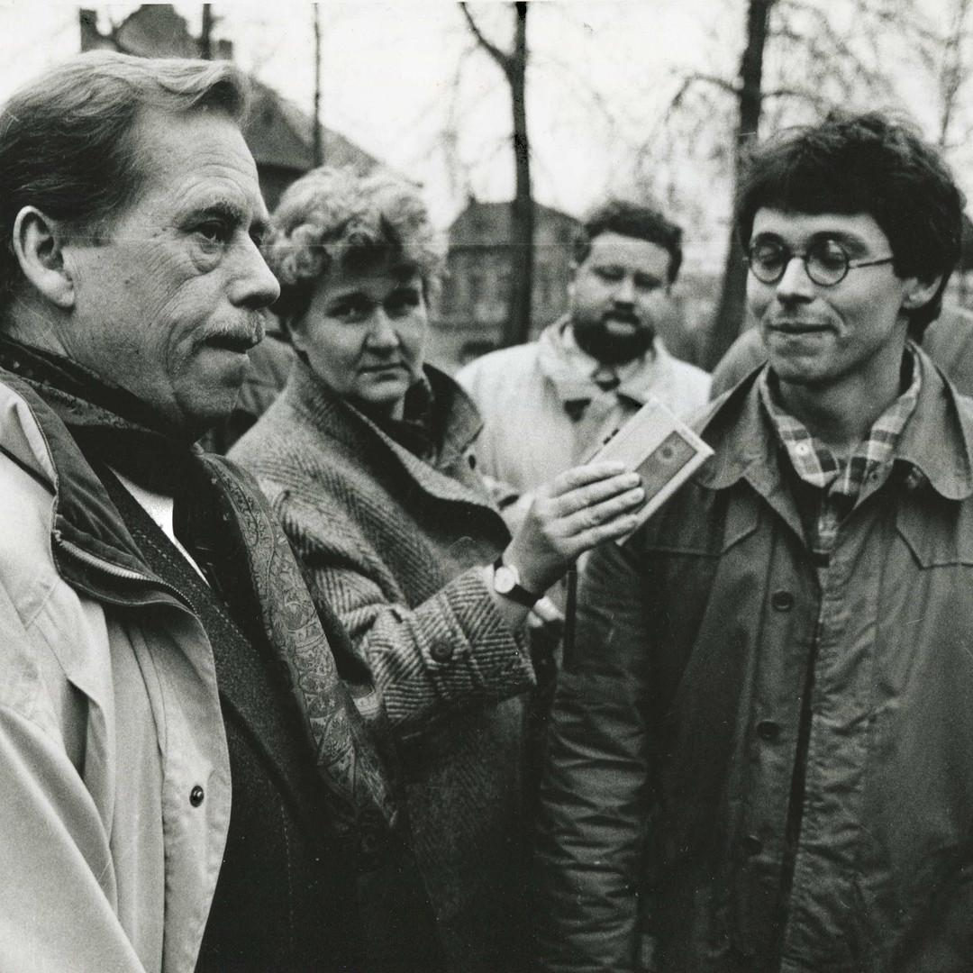 Václav Havel a Jan Piňos