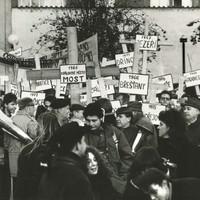 Protest proti bourání obcí