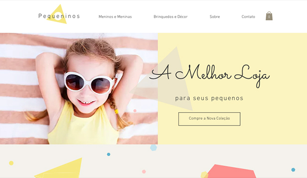 Loja Virtual website templates – Boutique Infantil