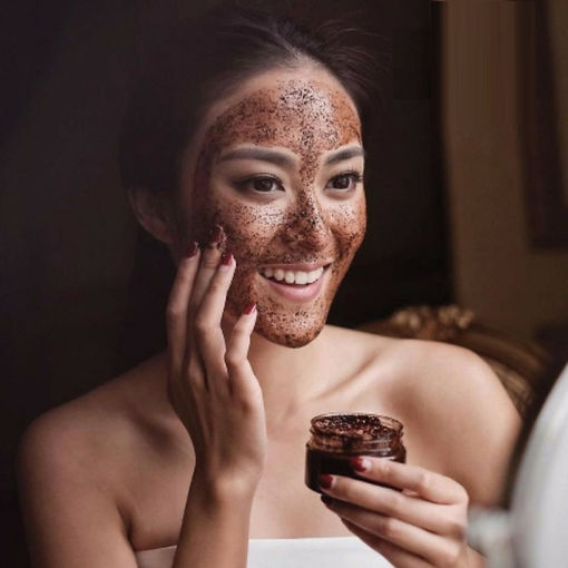 face mask with coffee and argan oil in S