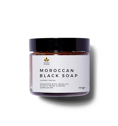 Moroccan argan black soap 100ml