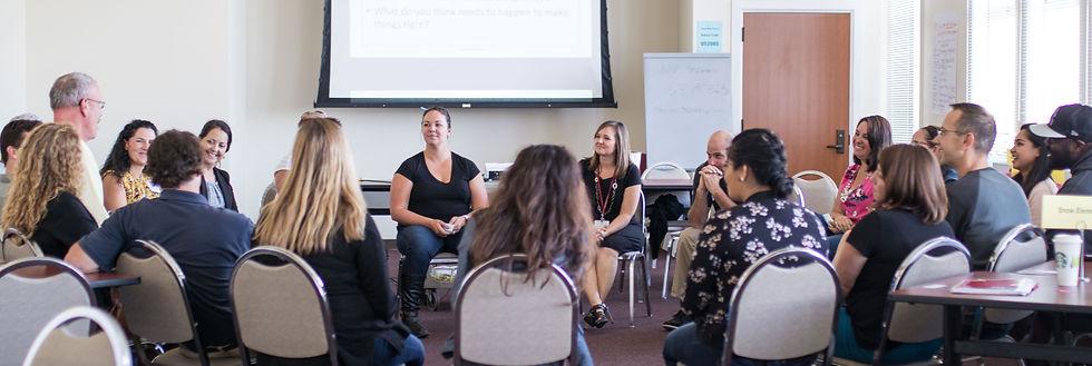 Circle training teachers and administrators