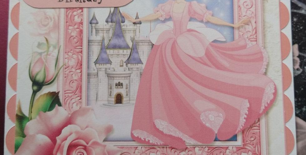 Niece Princess and Castle Birthday Card 6x6