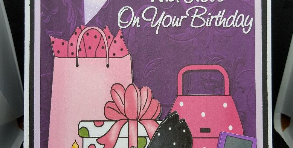 'Teen Diva' A5 Birthday Card