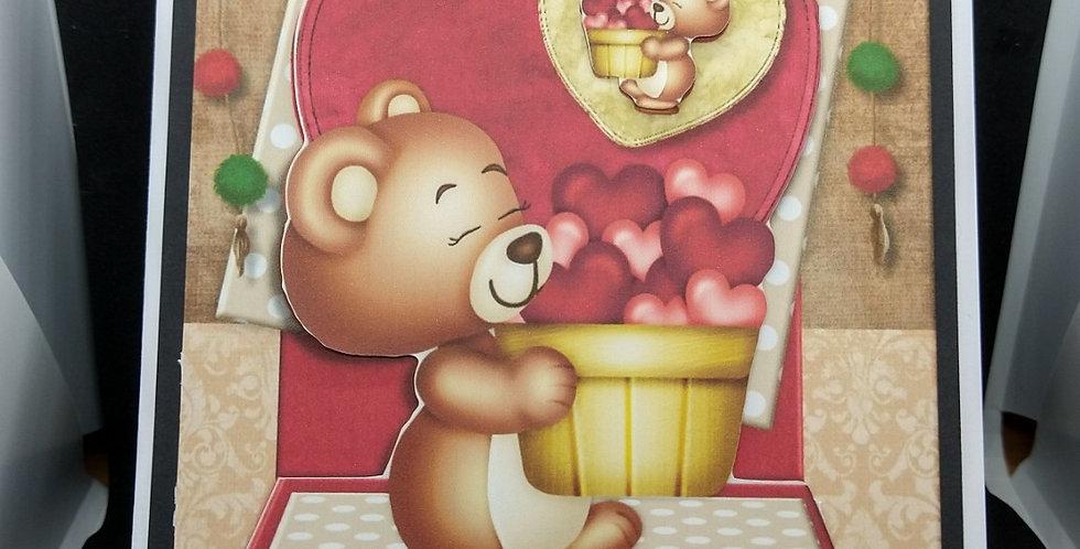 Valentines A5 Cute Bear