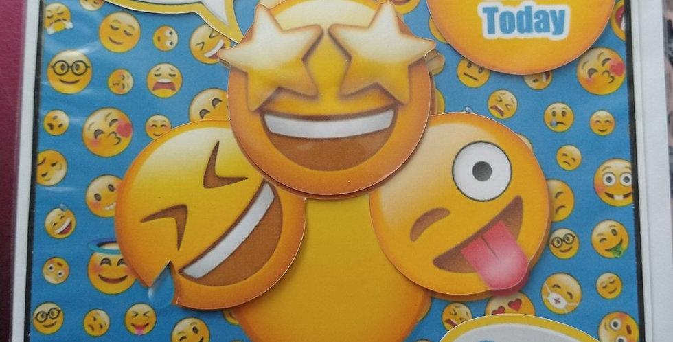 Emoji 12 today 6x6 Birthday Card