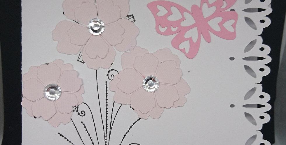 Sister Fancy Edge Floral Card