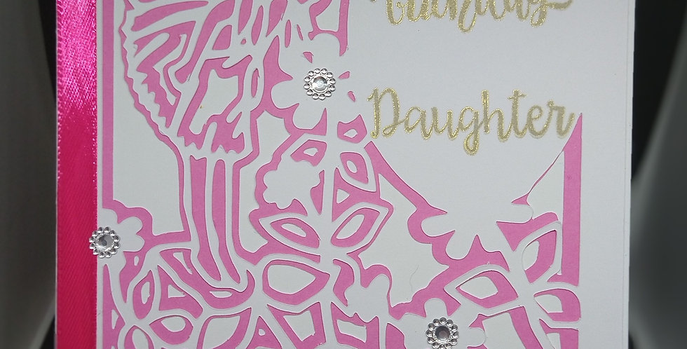 A5 Fairy Cutout Card For Daughter