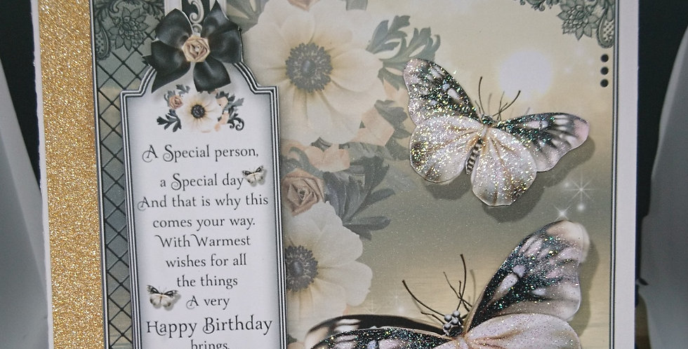 A5 3d Butterflies Birthday Card