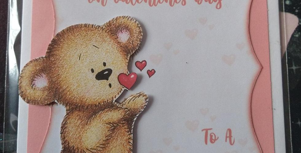 Valentines Bear 5x7 Girlfriend