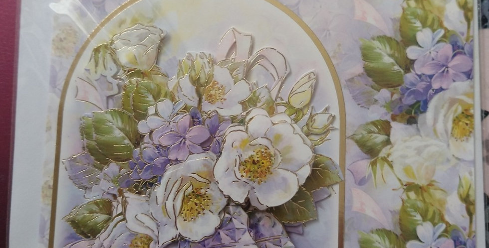 A5 Wedding Card 3d Bells and Flowers