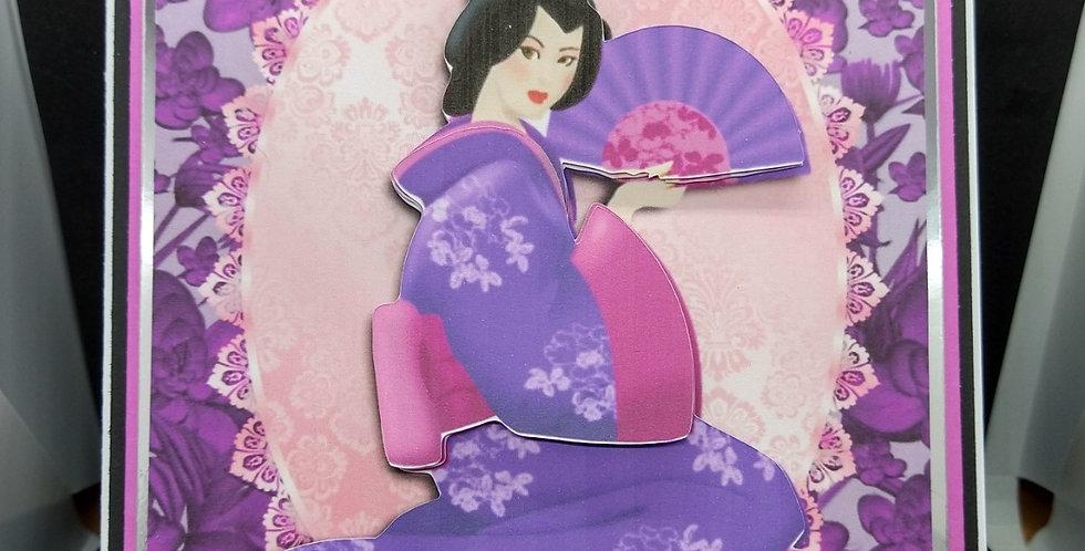 Geisha Girl A5 Birthday Card