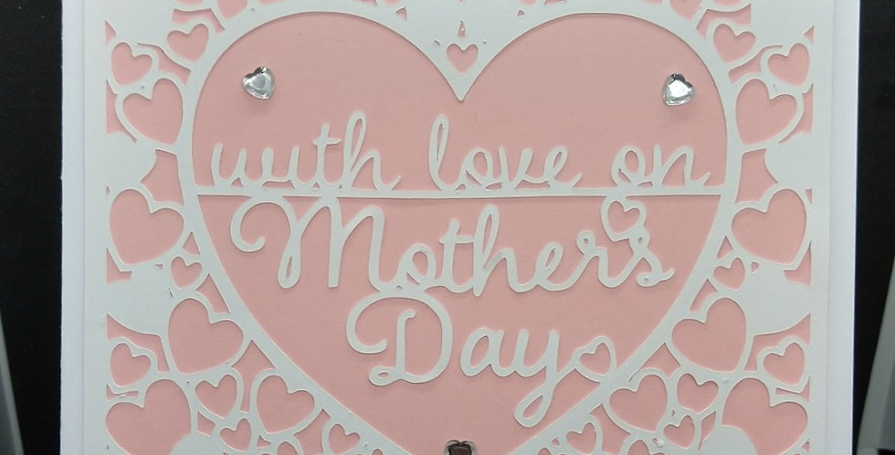 Mothers Day Cutout Pink 6x6 Card