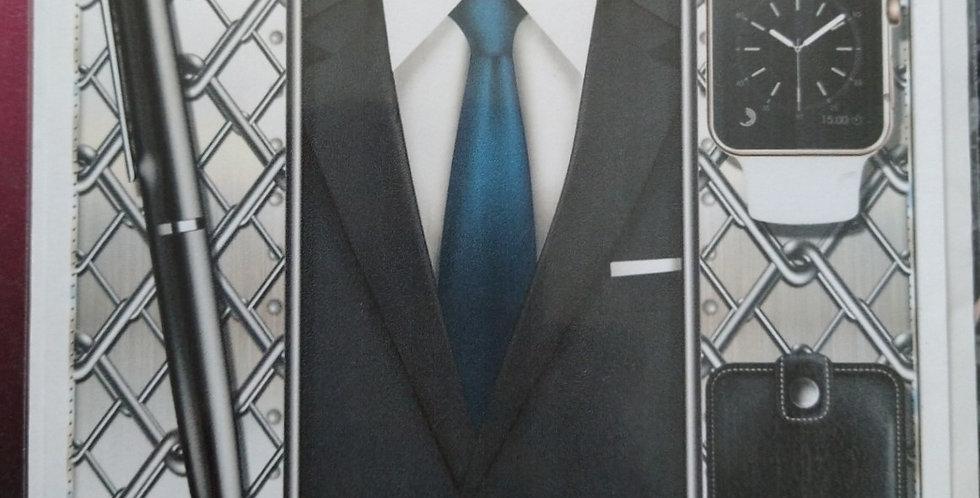 Mens Suit 6x6 Birthday Card Various Recipients