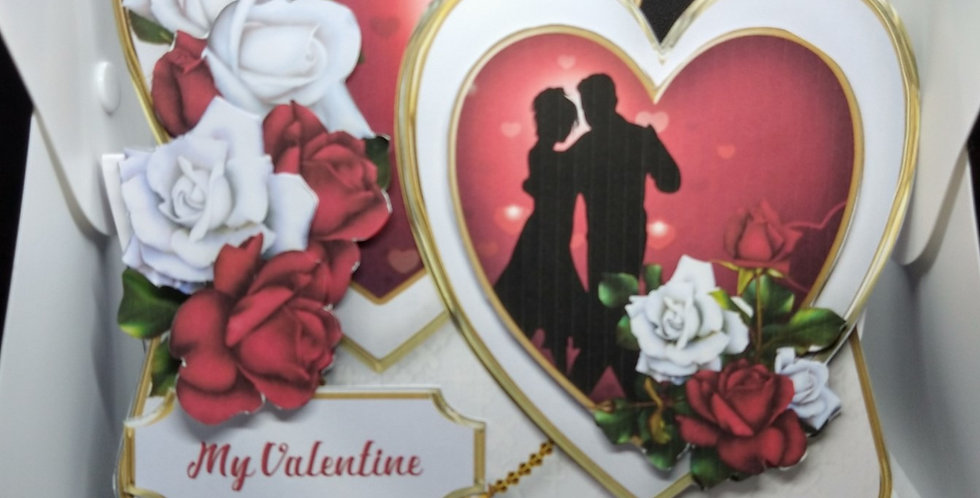 Double Heart Easel Card For Valentines
