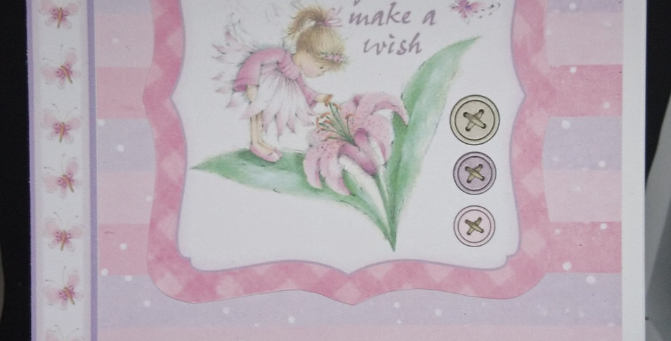 A5 Pink and Lilac Fairy Daughter Birthday Card