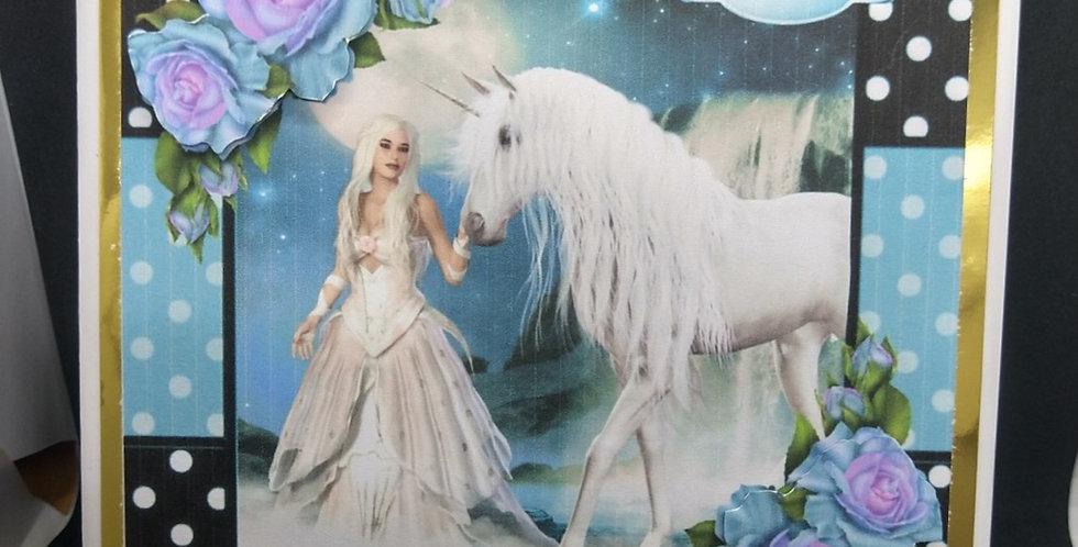 Magical Unicorn 6x6 Card
