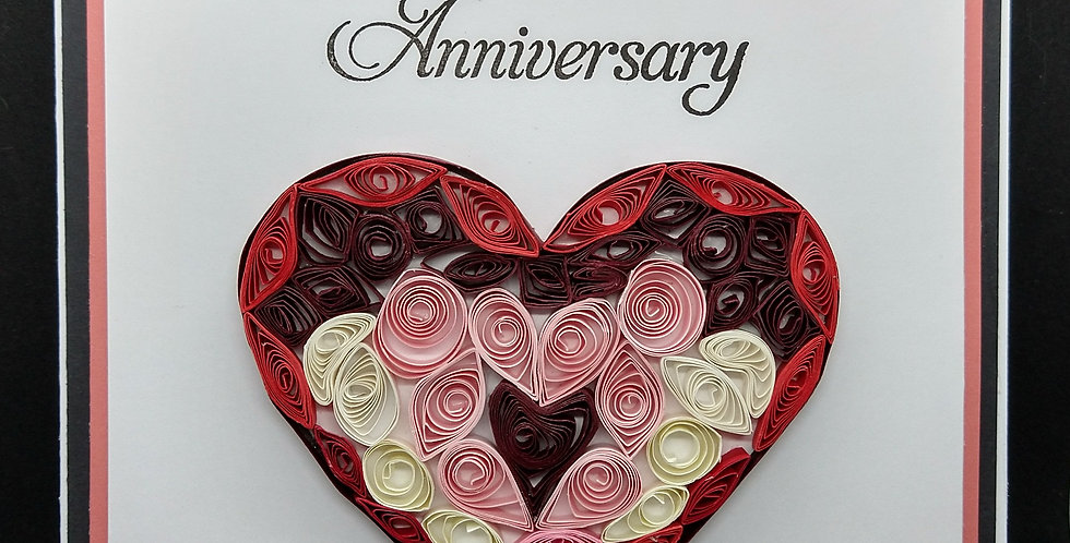 Quilled Heart1 6x6 Anniversary Card