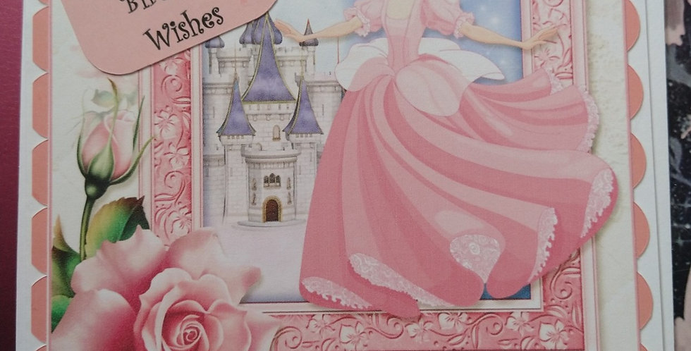 Daughter Princess and Castle Birthday Card 6x6