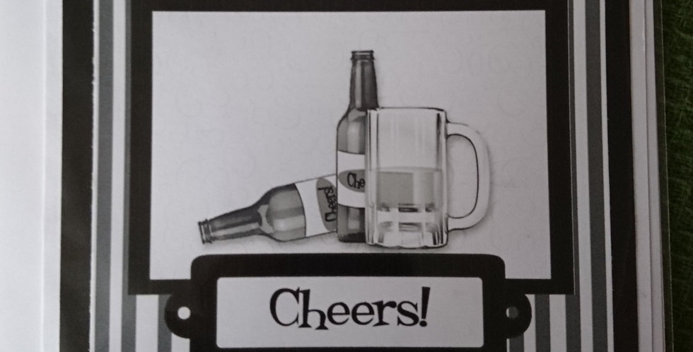 Monochrome Beer Birthday Card