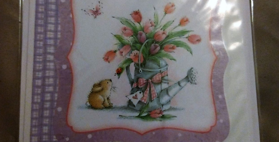Cute Rabbit Mum Birthday Card