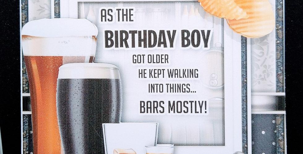 Birthday Boy Beer Theme 6x6 Card Various Recipients