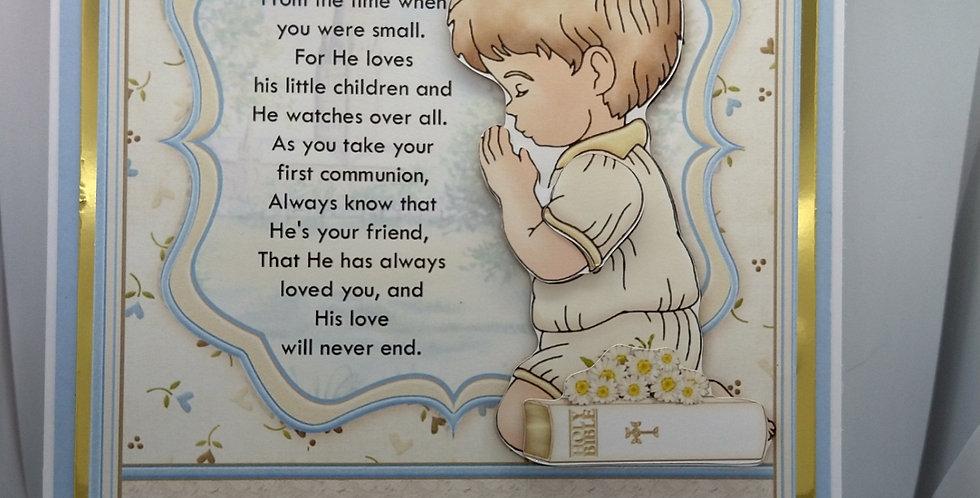 First Holy Communion A5 Boy