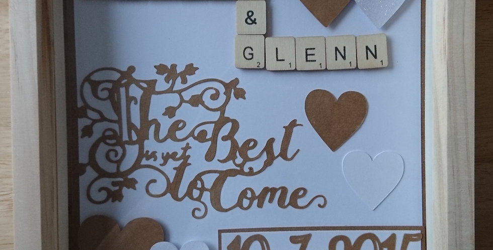 Wedding/Anniversay Gift Personalised Wooden Box Frame