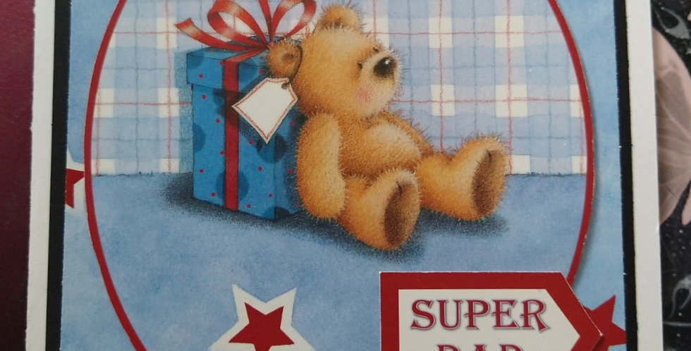 I Love You Beary Much A5 Birthday Card